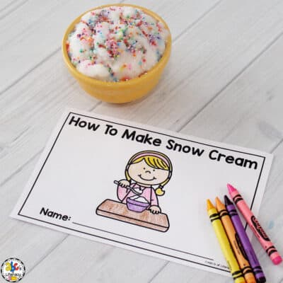How To Make Snow Cream (With Printable Book)