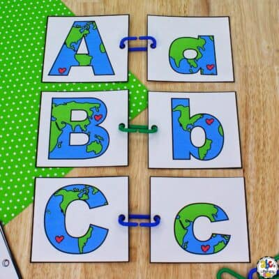 Earth Day Letter Match Activity