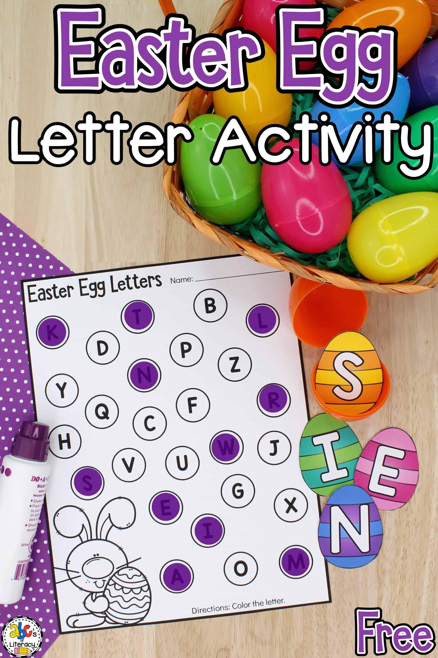 Easter Egg Letter Activity