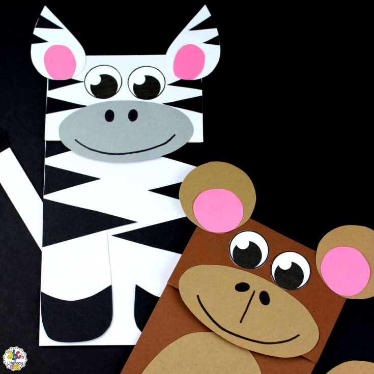 Zoo Animal Paper Bag Puppets