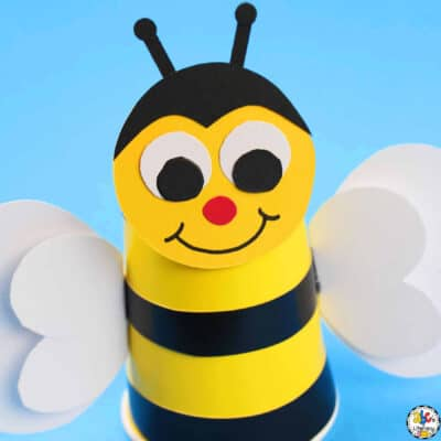 Paper Cup Bumblebee Craft