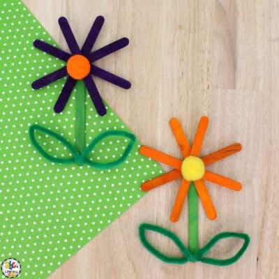 Craft Stick Flower Craft