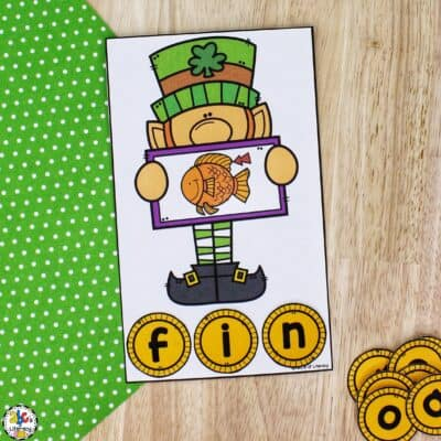Leprechaun CVC Words Activity