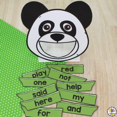 Panda Sight Word Activity