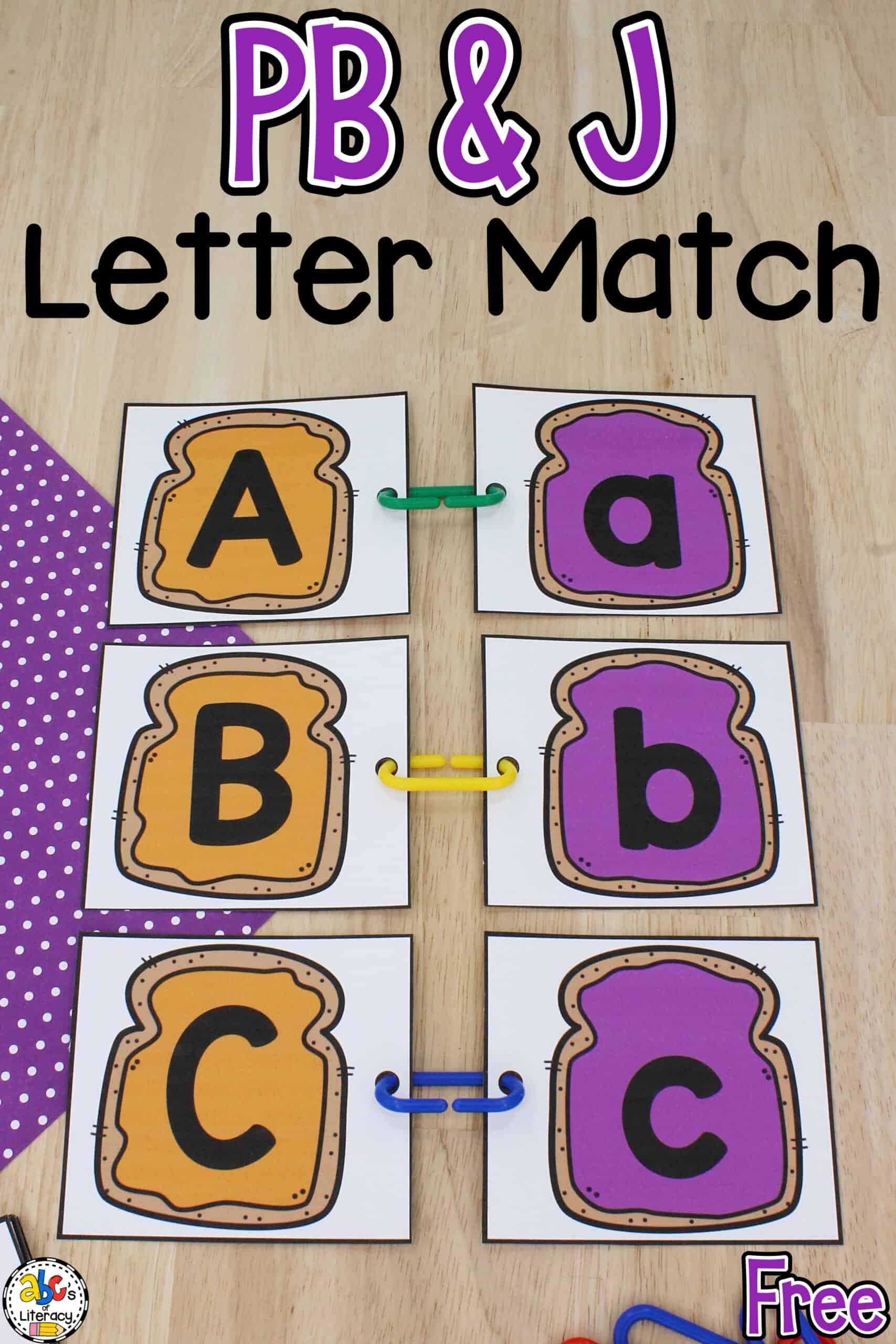Preschool Letter Matching