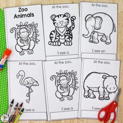 Zoo Animals Cut & Paste Book