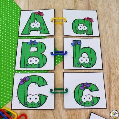 Cactus Letter Match Activity