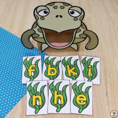 Sea Turtle Letter Recognition Activity