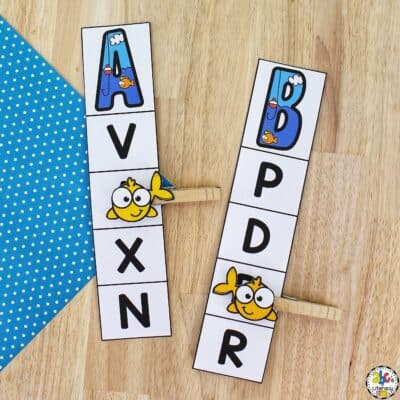 Fishing Alphabet Clip Cards
