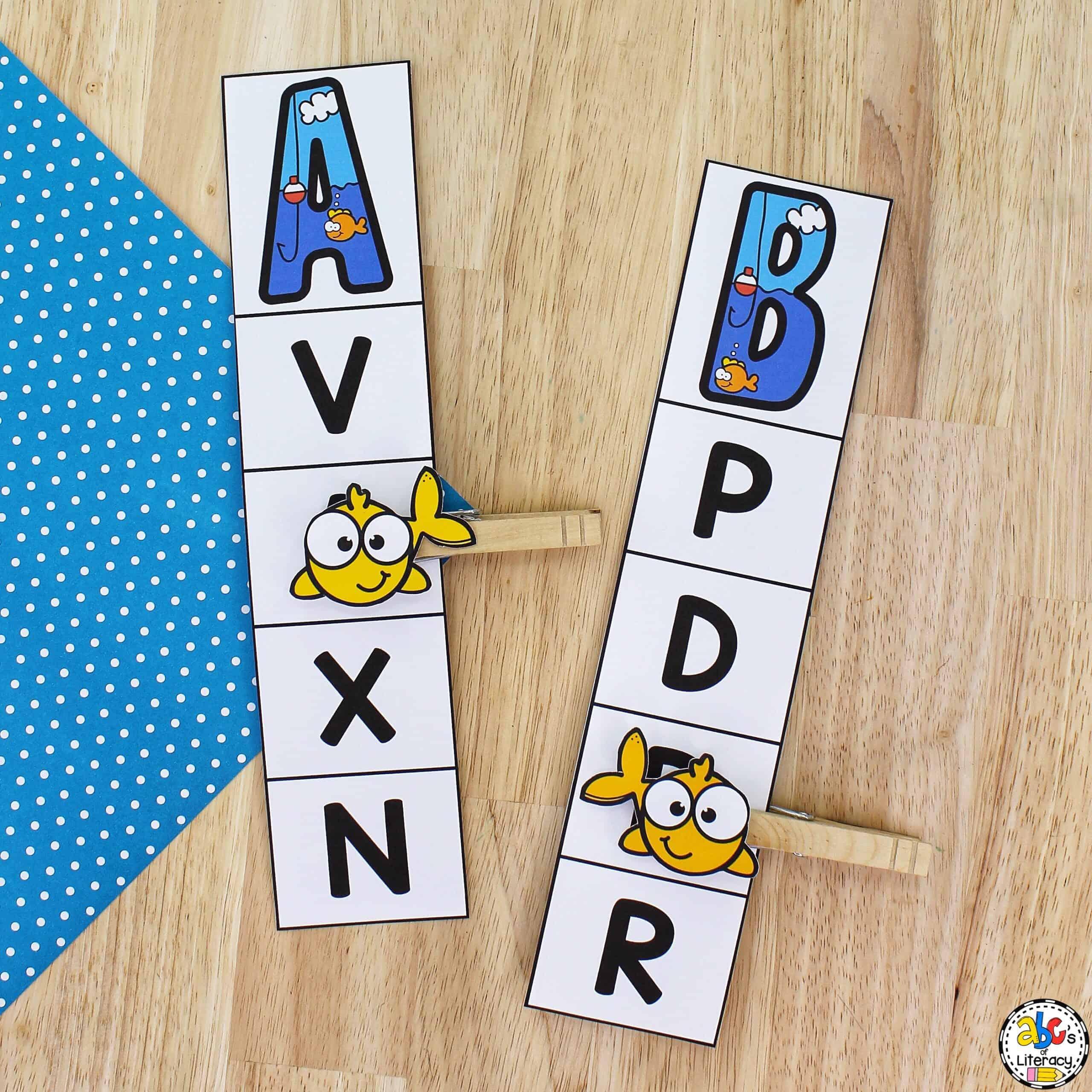 Letter Clip Cards