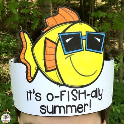 It's O-Fish-Ally Summer Free Printable Hat & Writing Activity