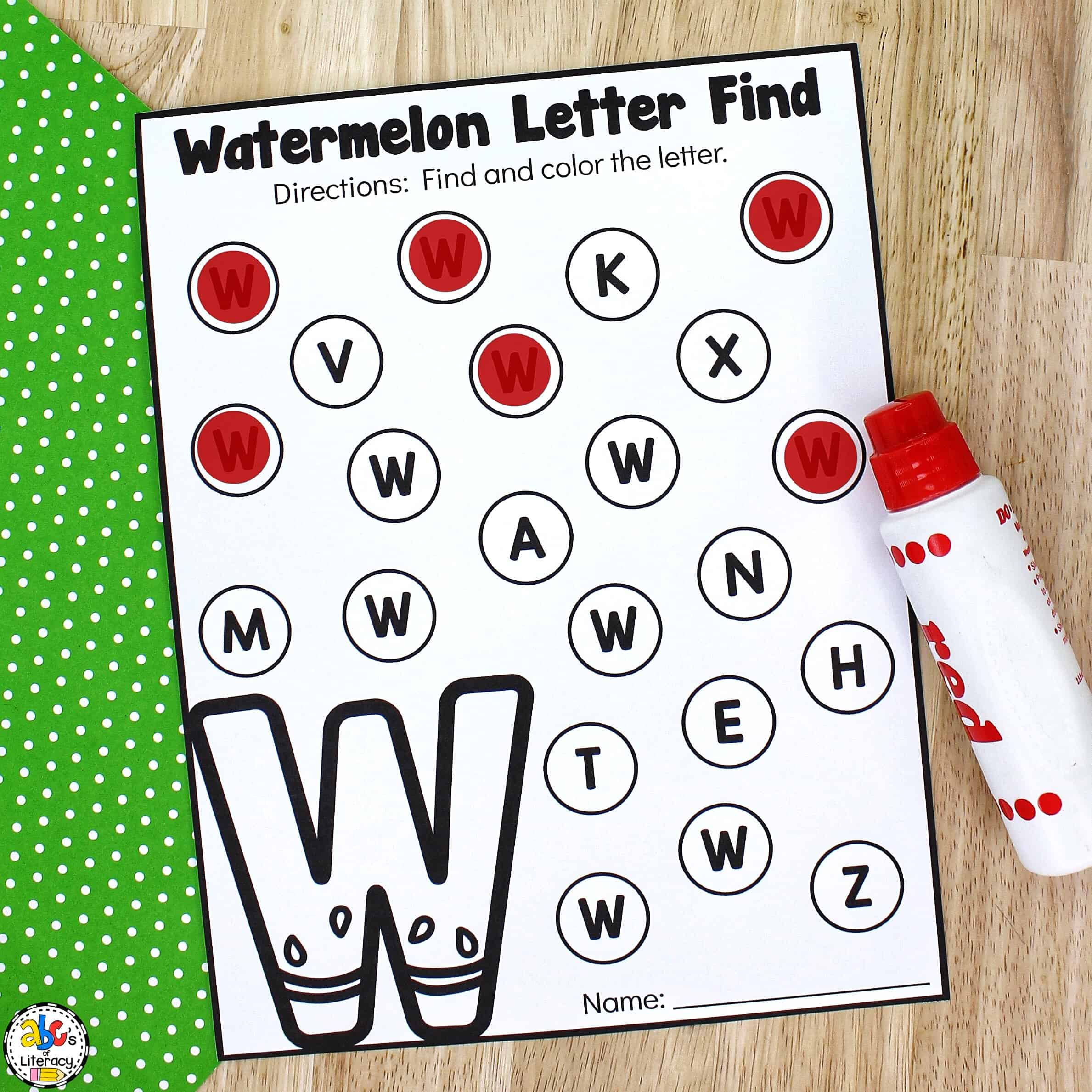 Letter Find Worksheets