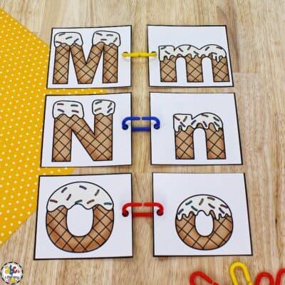Ice Cream Letter Match Activity