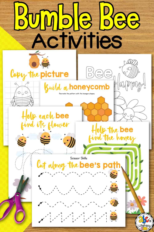 Bee Fine Motor Activities