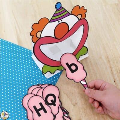 Clown Letter Recognition Activity