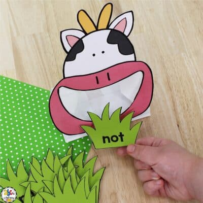 Cow Sight Word Activity