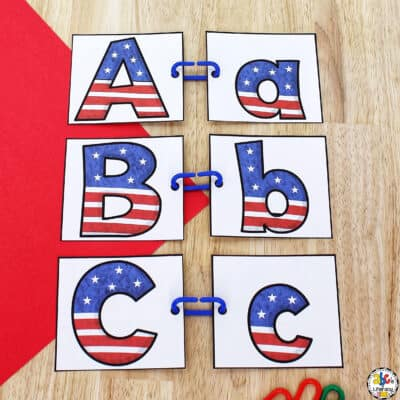 4th of July Letter Match Activity