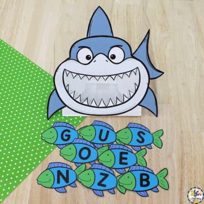 Shark Letter Recognition Activity