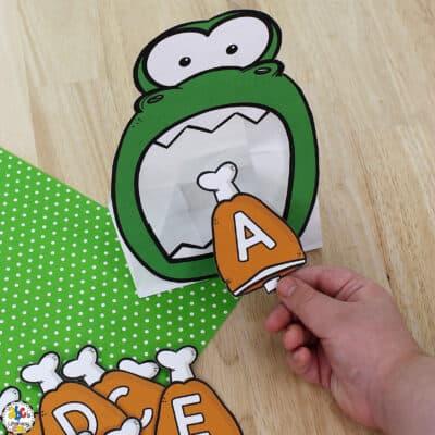 Dinosaur Letter Recognition Activity