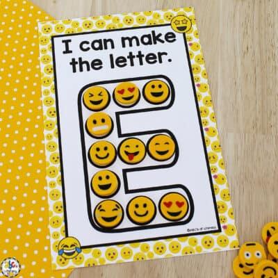 Emoji Letter Formation Cards