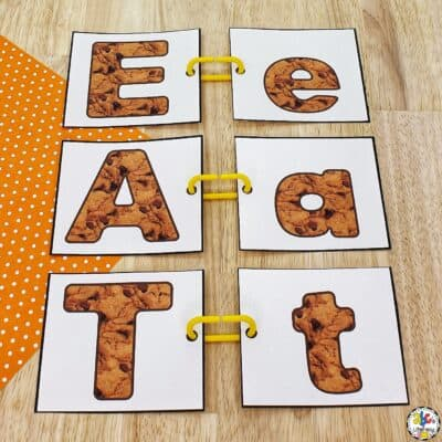 Chocolate Chip Cookie Letter Match Activity