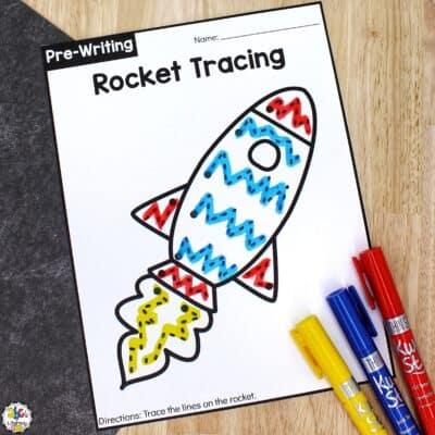 Rocket Tracing Worksheets