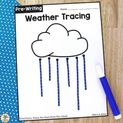 Weather Tracing Worksheets