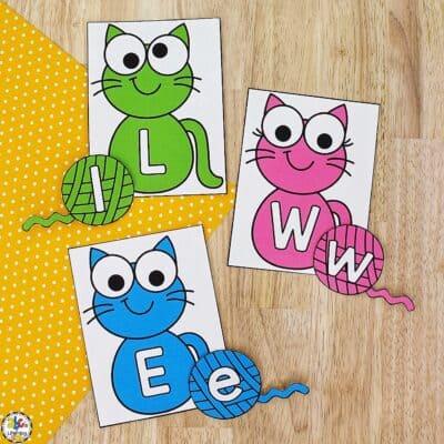Cat & Yarn Letter Match Activity