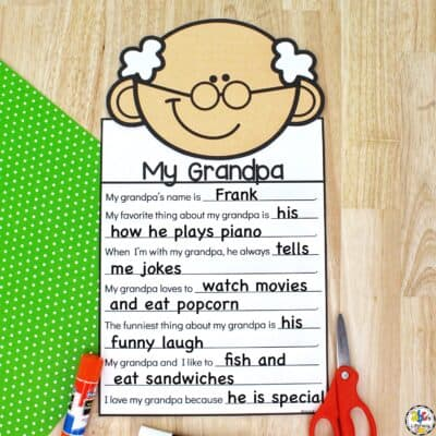 Grandparents Day Writing Craft
