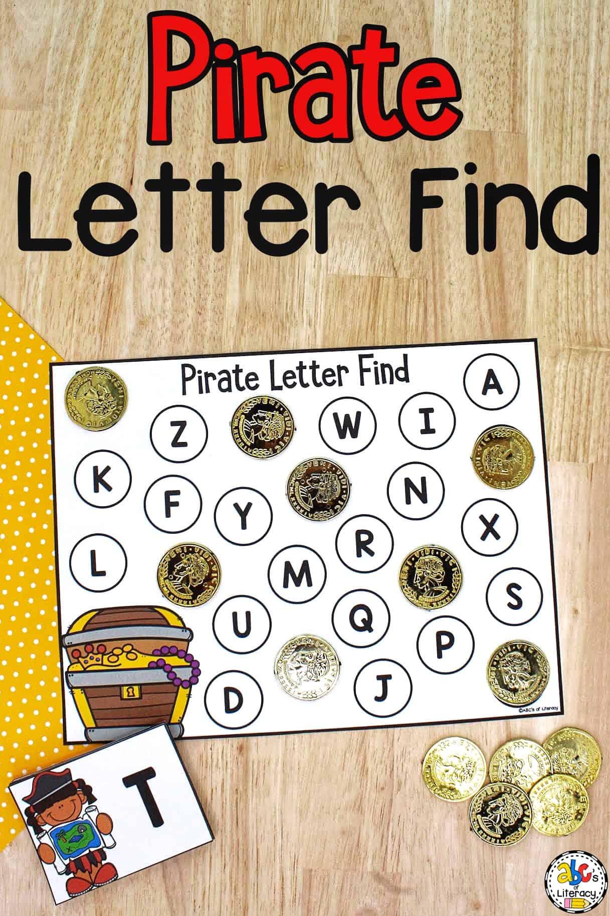 Letter Find Worksheets for Preschool