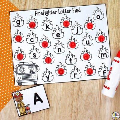Firefighter Letter Find Activity