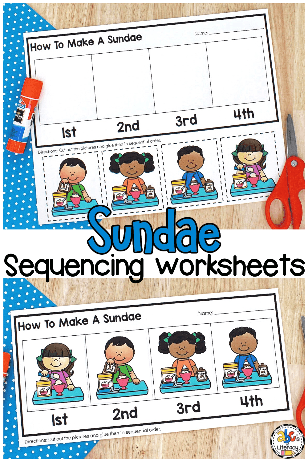 How to make a sundae activity for kids