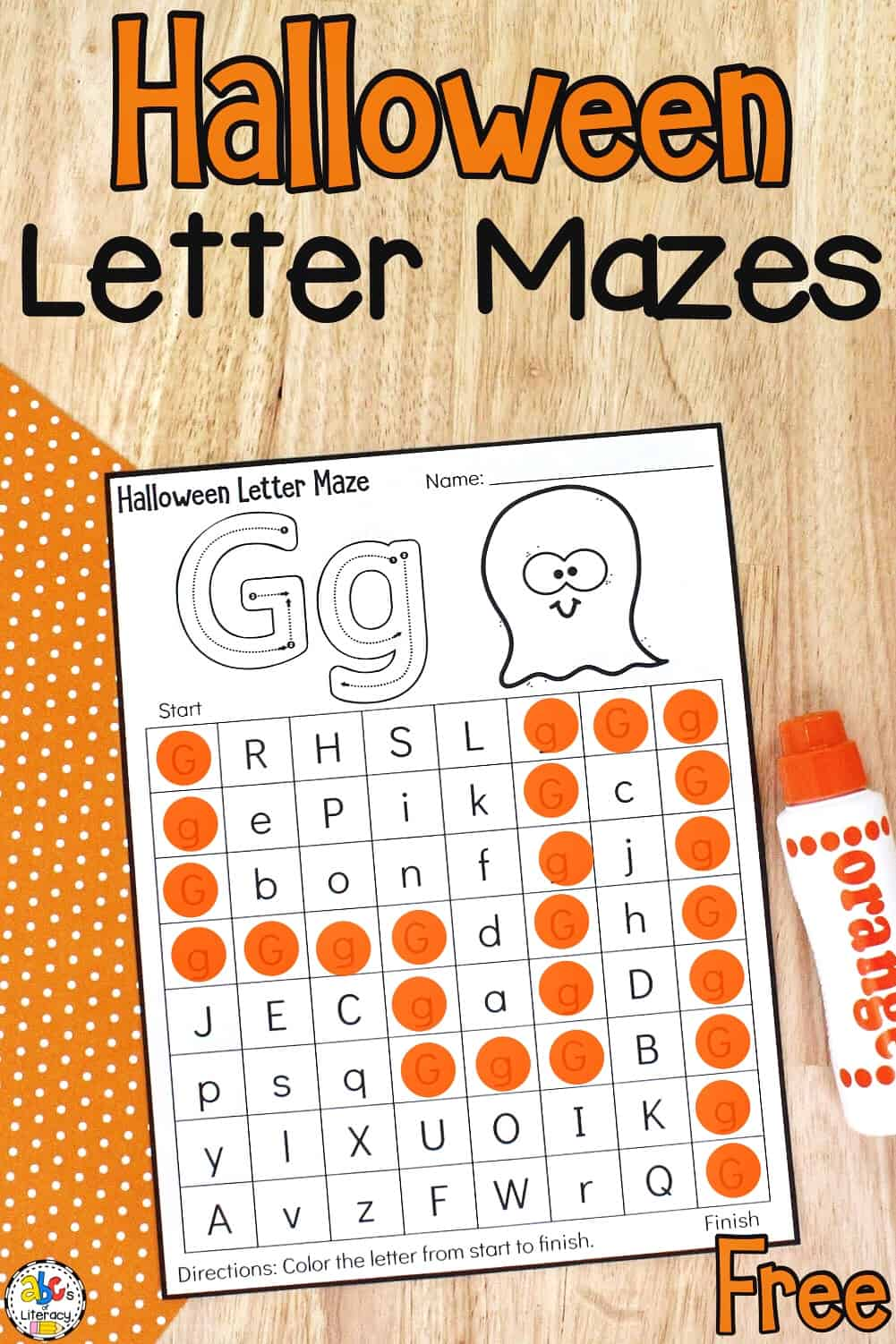 Halloween Letter Recognition Activity