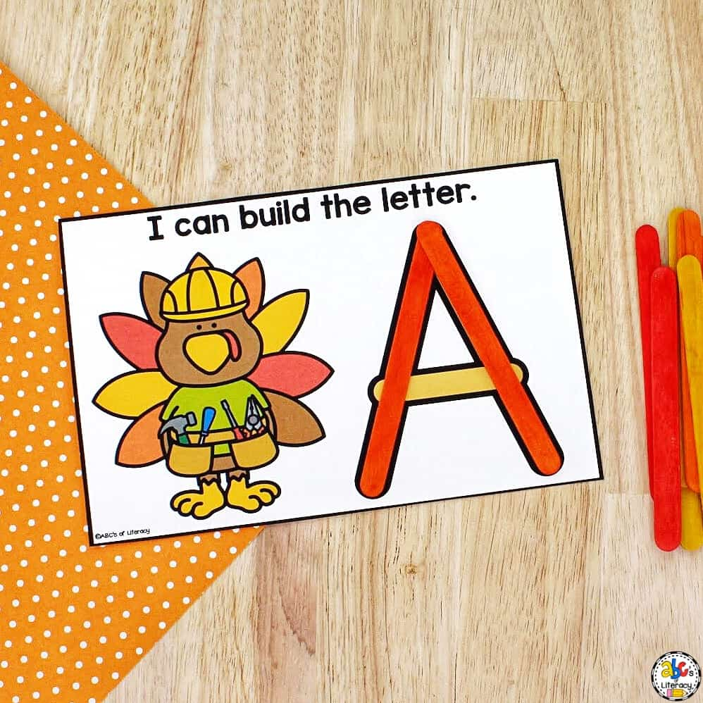 Thanksgiving Letter Recognition Activity
