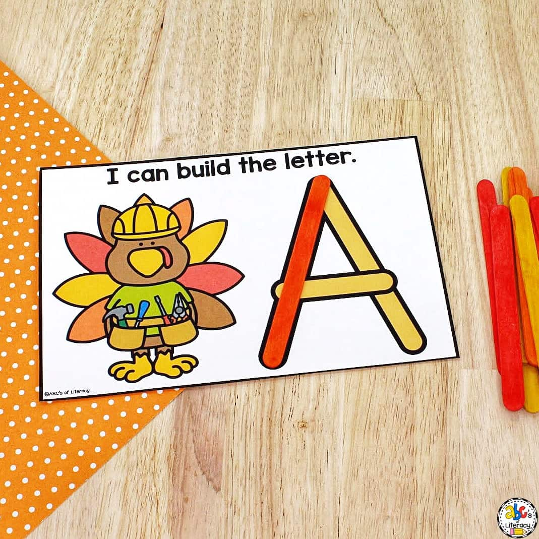 Thanksgiving Letter Formation Activity