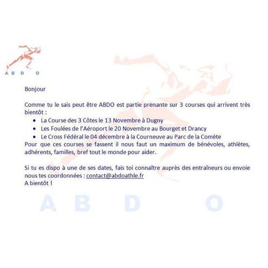On a besoin de vous tous !Mail à contact@abdoathle.frOu SMS à vos entraîneurs président et vices présidents - from Instagram