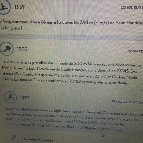 Et ça sera une finale pour clôturer les championnats de France élite 2019 @neola_orphee #ffa #200m #perf #athletisme @villededrancy #lebourget #dugny - from Instagram