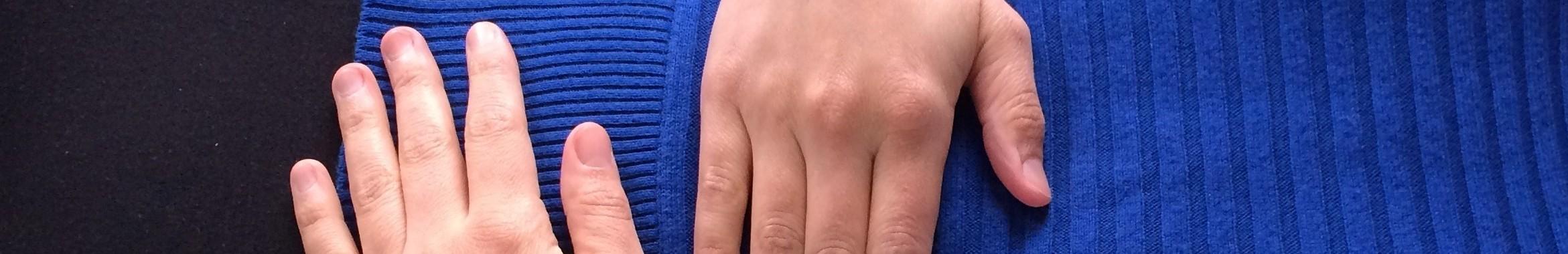 hands on abdomen