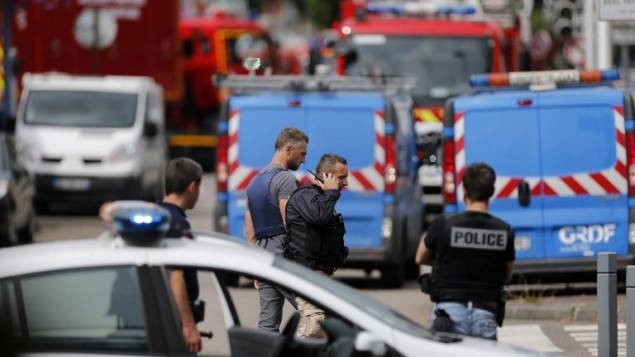 The Deplorable and Senseless attack on a French Priest and Church
