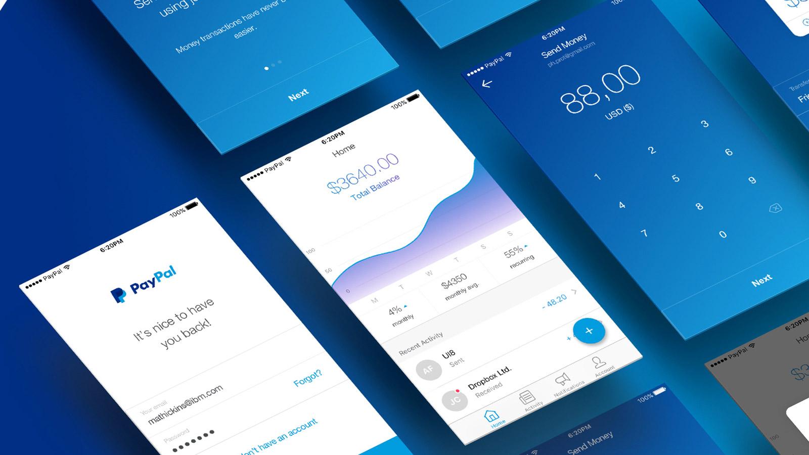 UI/UX: PayPal Concept Design