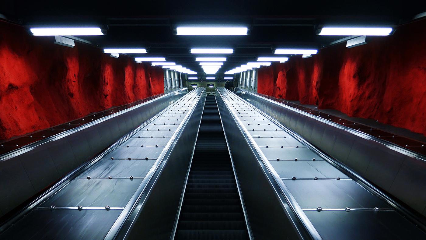 Wallpaper of the Week - Solna Centrum Metro Station