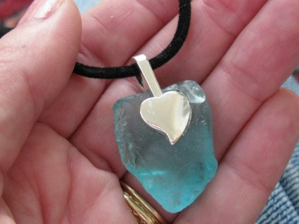 Aqua-Blue-Beach-Glass-Necklace