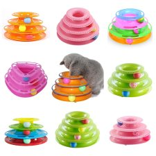 Interactive Toy for Cats Tower of Tracks with Ball
