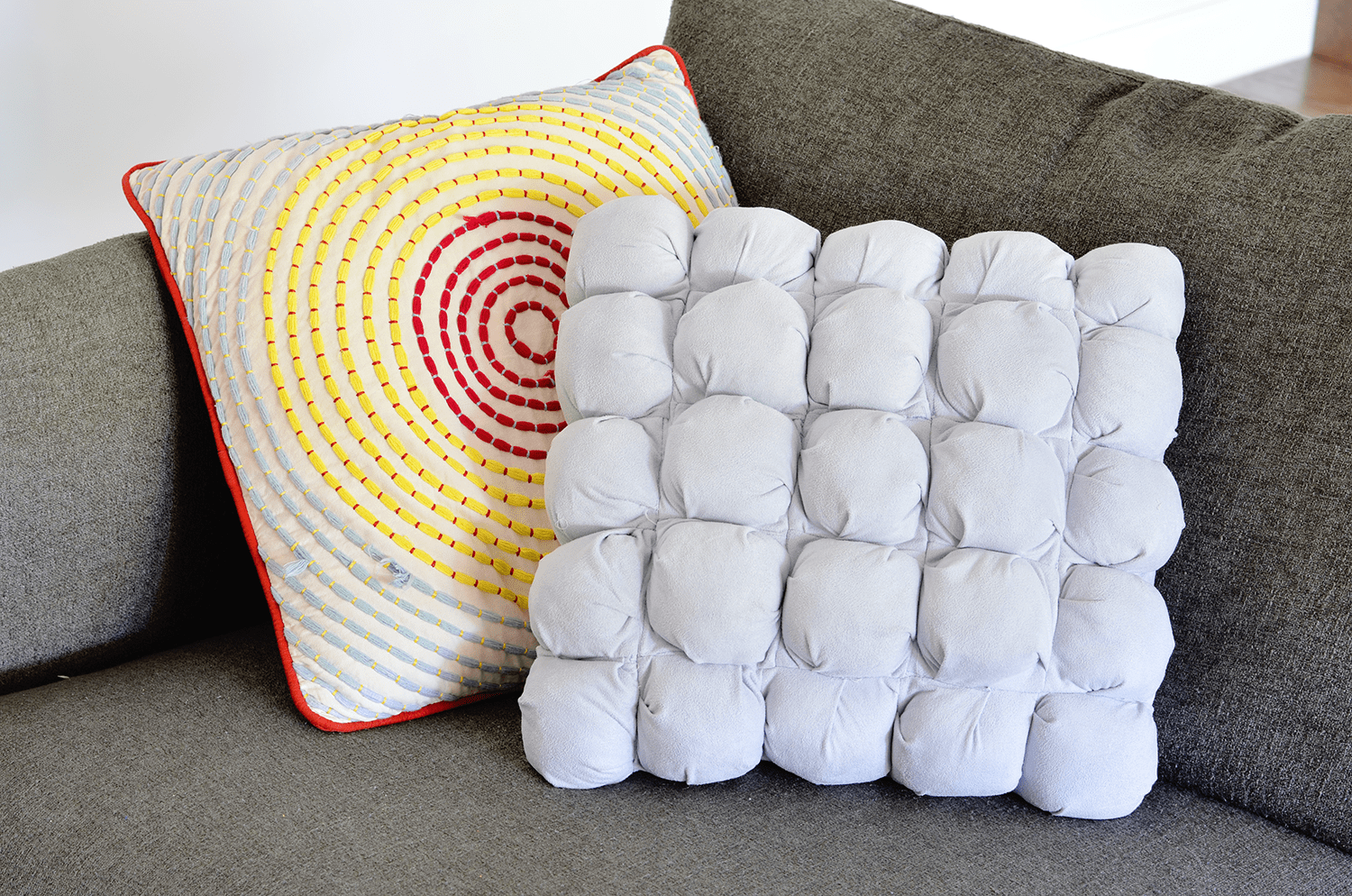 make your own puff quilted pillow cover