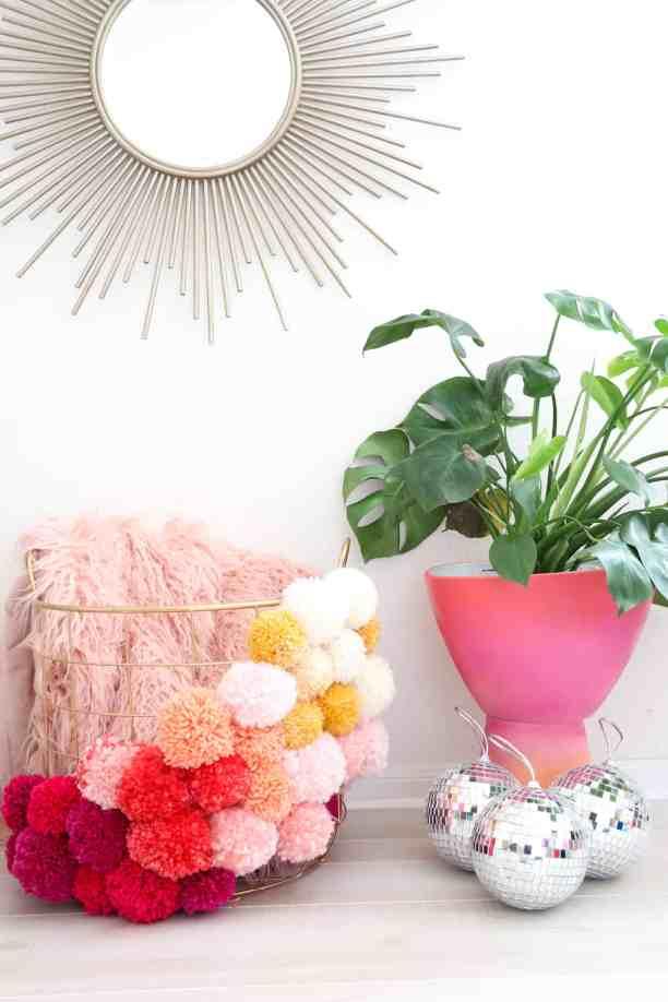 Pom pom crafts, Make your own pom pom basket