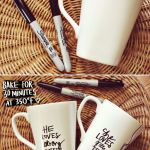 His Her Sharpie Mug Diy A Beautiful Mess