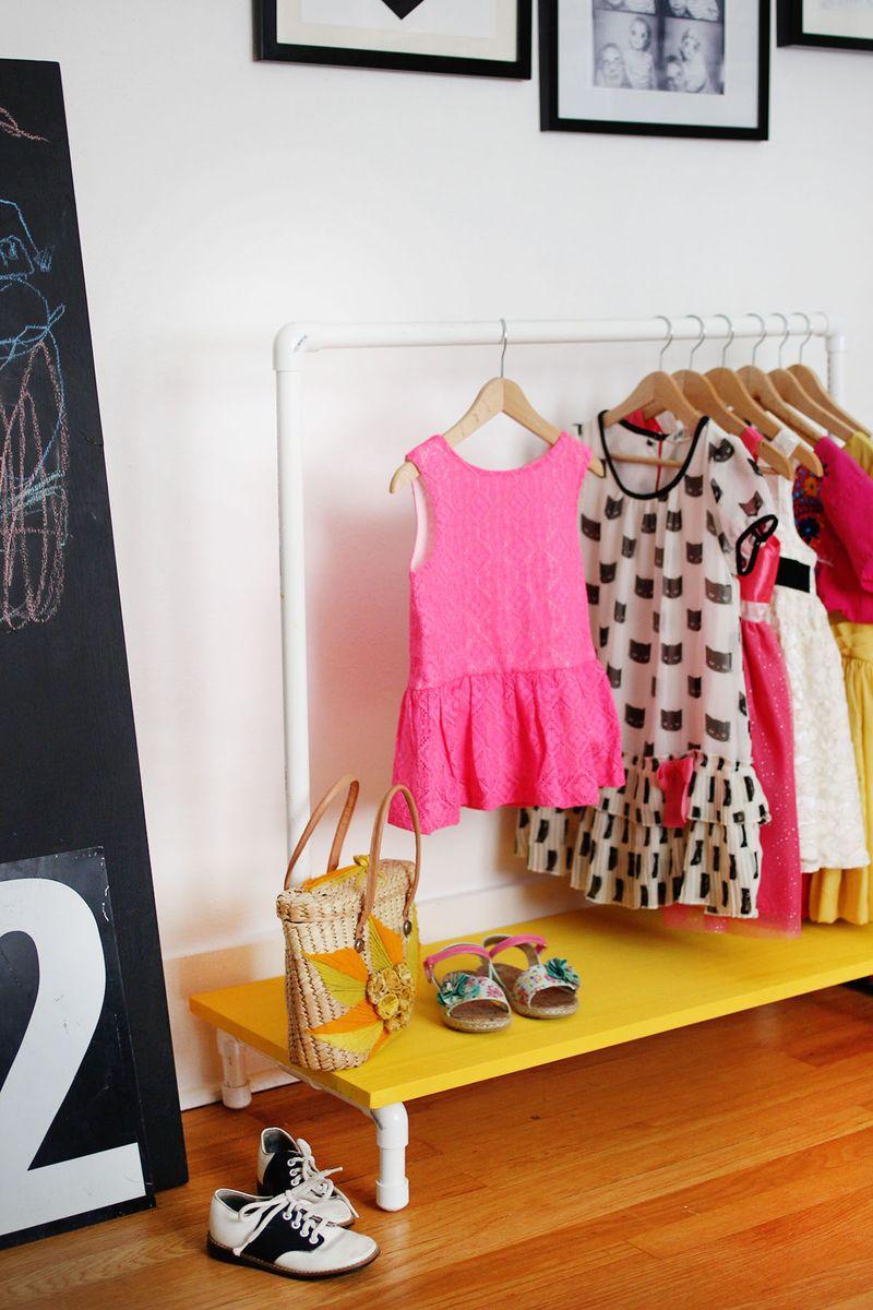 kids clothes rack diy a beautiful mess