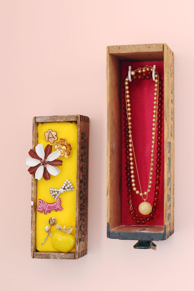 Wall Mounted Jewelry Box Display A Beautiful Mess