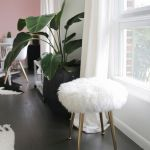 Make A Furry Stool With Gold Legs In Minutes A Beautiful Mess