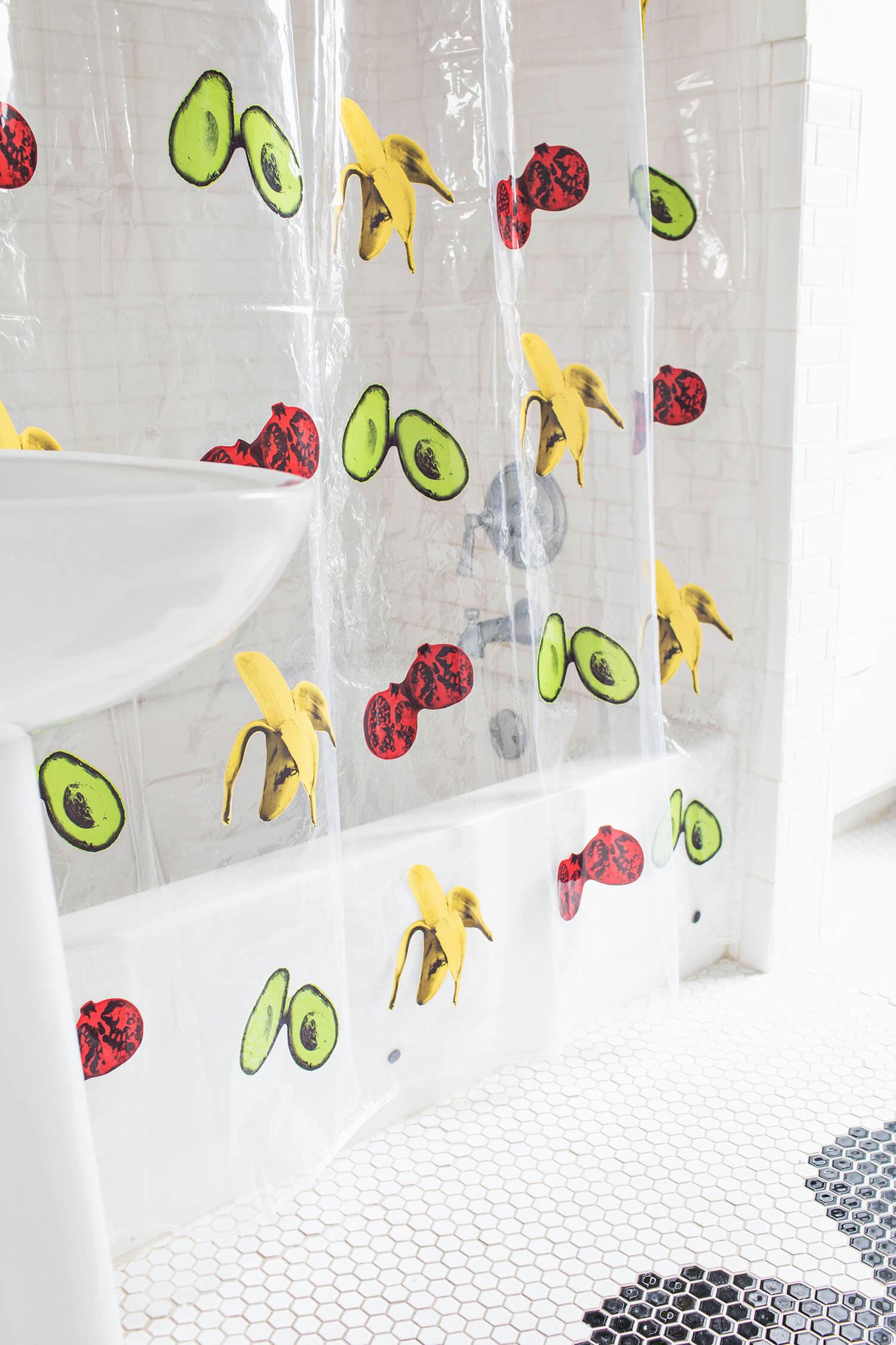 diy shower curtain a beautiful mess